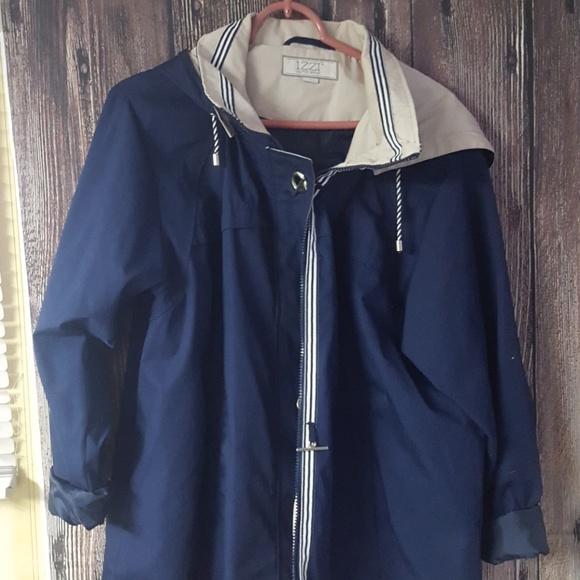Rare 90s Vintage Izzi blue parka jacket Sz Large rgSelYpeg0